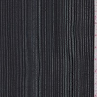 Black Multi Pinstripe Silk Crepe de Chine