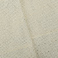 *5 1/8 YD PC -- White/Metallic Shimmer Gold Printed Slubbed Woven Home Decorating Fabric