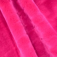 *4 YD PC -- Red Petal Soft Faux Fur Knit