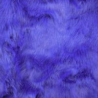 *2 1/2 YD PC -- Boat Blue Medium Pile Faux Fur Knit