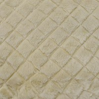 *10 YD PC -- Ceramic Beige Doublesided Diamond Quilt/Faux Fur Knit