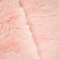 *2 1/2 YD PC -- Blush Pink Low/Medium Pile Faux Fur Knit