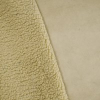*5 YD PC -- Sand Beige Doublesided Faux Suede/Berber Fleece Knit