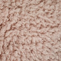 *2 YD PC -- Light Dusty Pink Curly Textured Faux Fur Woven