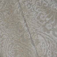 *3 YD PC -- Beige Textured Baroque Chenille Jacquard Decorating Fabric