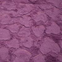 Chill Lavender Purple Heart Minky Faux Fur Knit