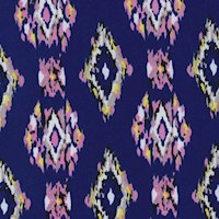 Violet Blue/Pink Ikat Diamond Nylon Knit