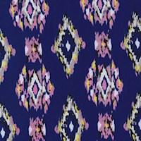Violet Blue/Pink Ikat Diamond Nylon Knit
