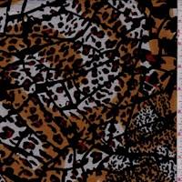 Black/Goldenrod Tiger Print Applique Knit