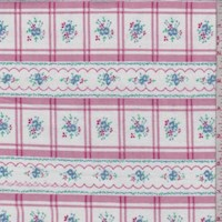 White/Rose Floral Check Cotton Flannel