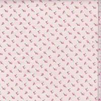 Blush/Pink Mini Rosebud Cotton Flannel