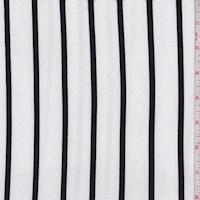 White/Black Stripe Double Brushed Jersey Knit