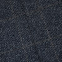 *1 YD PC -- Deep Charcoal/Brown Grid Wool Blend Jacketing