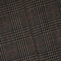*1 1/4 YD PC -- Beige/Red/Multi Wool Blend Glen Plaid Woven Jacketing