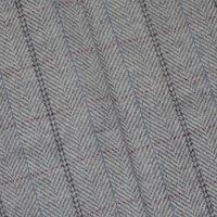 *1 1/4 YD PC -- Gray/Blue/Brown Wool Blend Herringbone Plaid Jacketing