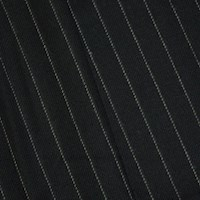 *4 3/4 YD PC -- Deep Navy/Gray Wool Blend Twill Stripe Jacketing