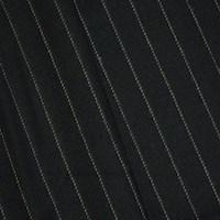 *5 YD PC -- Deep Navy/Gray Wool Blend Twill Stripe Jacketing
