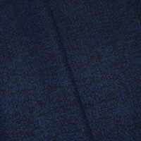 *5 3/4 YD PC -- Electric Blue/Black Wool Blend Dobby Woven Home Decorating Fabric