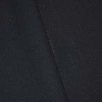 *9 1/2 YD PC -- Basic Black Semi-Opaque Poly/Wool  Herringbone Suiting