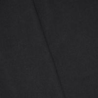 *3 5/8 YD PC -- Jet Black Wool Blend Twill Woven Jacketing