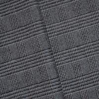 *5 7/8 YD PC -- Black/Mist Gray/White Wool Blend Glen Plaid Jacketing
