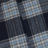 *5 3/4 YD PC -- Black/White/Gray Semi-Opaque Wool Blend Textured Plaid Woven