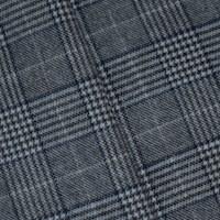 *5 7/8 YD PC -- Black/White/Blue Wool Blend Glen Plaid Jacketing