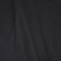 *6 3/8 YD PC -- Deep Charcoal Gray Semi-Opaque Poly/Wool Blend Shirting