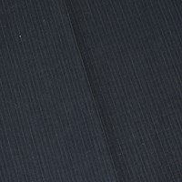 *3 1/2 YD PC -- Black/Gray Semi-Opaque Tropical Wool Blend Pinstripe Suiting