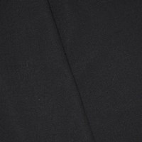 *3 3/8 YD PC -- Pitch Black Wool Blend Twill Suiting
