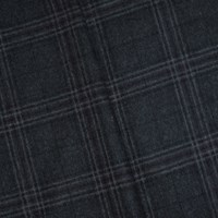 *7 1/2 YD PC -- Gray/Purple Wool Blend Plaid Woven Jacketing