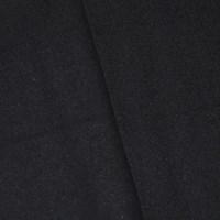 *7/8 YD PC -- Basic Black Wool Blend Twill Jacketing