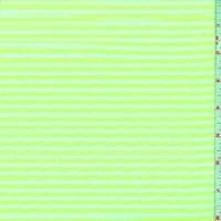 White/Neon Lime Stripe T-Shirt Knit