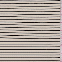 Bisque/Black Stripe T-Shirt Knit