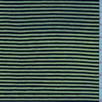 Bright Green/Black Stripe T-Shirt Knit
