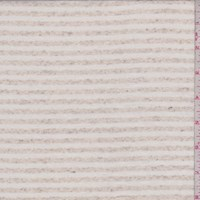 Ivory/Oatmeal Stripe Rayon Jersey Knit