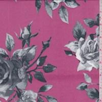 Berry Pink/Grey Rose Nylon Knit