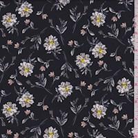 Black/Tan Tossed Daisy Nylon Knit