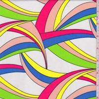 White Multi Crescent Nylon Knit