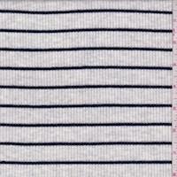 Heather Grey/Navy Stripe Rib Knit