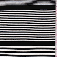 Black/White Varied Stripe Jersey Knit
