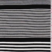 Black/White Varied Stripe Jersey Knit