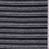 Onyx/Pewter Stripe Brushed Knit