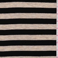 Heather Tan/Black Stripe Brushed Knit