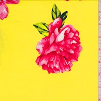 Yellow/Red Peony ITY Knit