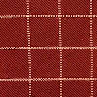 *8 1/4 YD PC -- Red/Beige Grid Woven Home Decorating Fabric