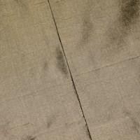 *3 1/2 YD PC -- Lux Taupe Beige/Gray Silk Iridescent Dupioni Shantung Decorating Fabric