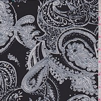 Black/White Paisley Nylon Knit