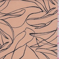 Beige/Black Squiggle Nylon Knit