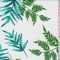 White/Aqua/Fern Botanical Nylon Knit